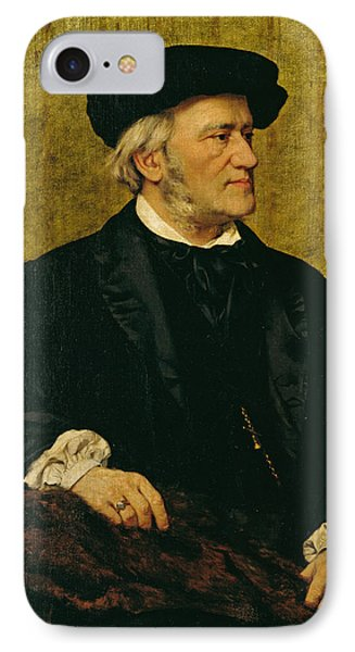 Portrait Of Richard Wagner Phone Case by Giuseppe Tivoli