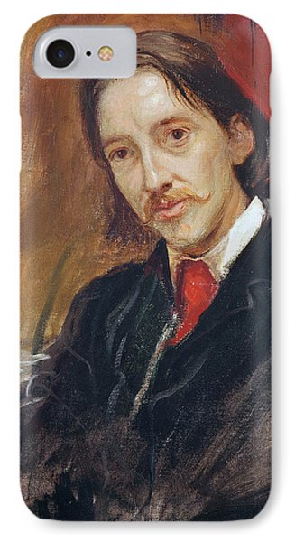 Portrait Of Robert Louis Stevenson Phone Case by Sir William Blake Richomond