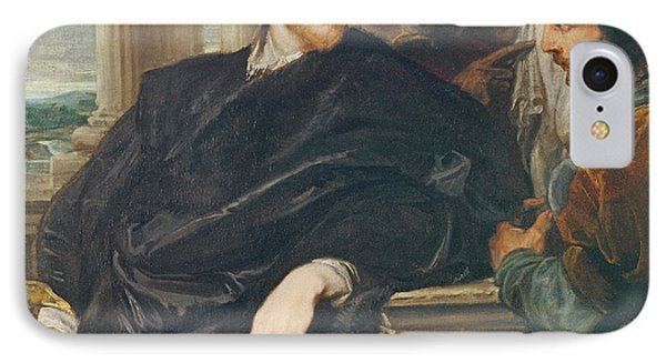 Portrait Of Rubens Oil On Canvas IPhone Case by Sir Anthony van Dyck