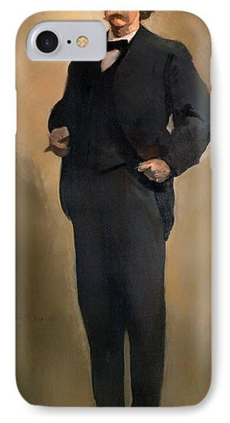 Portrait Of Samuel L Clemons - Mark Twain IPhone Case by Mountain Dreams