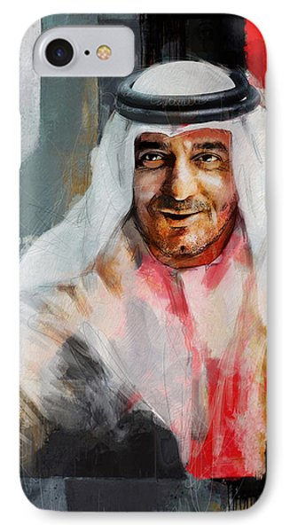 Portrait Of Sheikh Ahmed Bin Saeed Al Maktoum 3 IPhone Case by Maryam Mughal