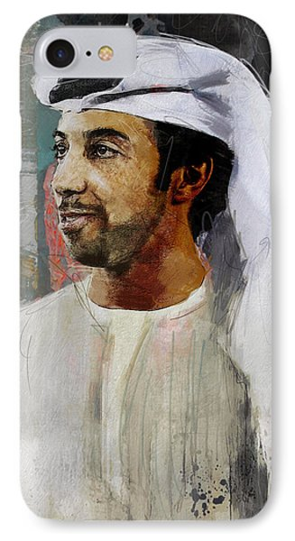 Portrait Of Sheikh Mansour IPhone Case by Maryam Mughal
