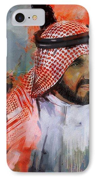 Portrait Of Sheikh Saqr Bin Mohammad Al Qasimi IPhone Case by Maryam Mughal