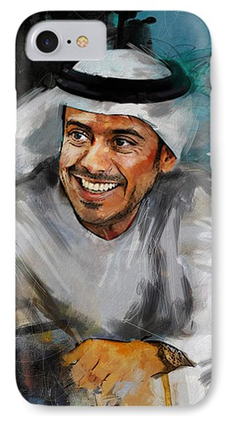 Portrait Of Sheikh Sultan Bin Tahnoon Al Nahyan IPhone Case by Maryam Mughal