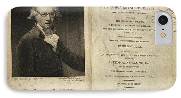 Portrait Of Sir Joshua Reynolds. IPhone Case