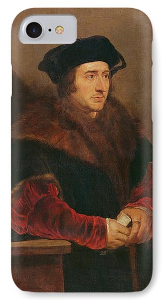 Portrait Of Sir Thomas More Oil On Canvas IPhone Case by Peter Paul Rubens