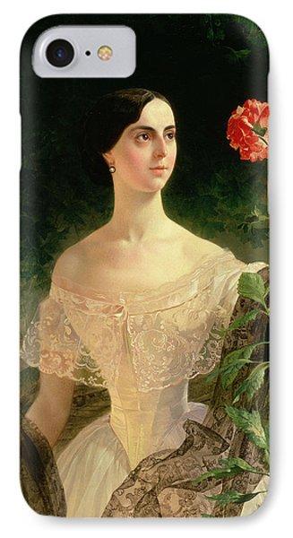 Portrait Of Sofia Andreyevna Shuvalova IPhone Case by Karl Pavlovich Bryullov