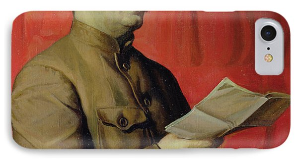 Portrait Of Stalin IPhone Case by Isaak Israilevich Brodsky