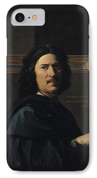 Portrait Of The Artist, 1650 Oil On Canvas IPhone Case by Nicolas Poussin