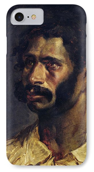 Portrait Of The Carpenter Of The Medusa, C.1812 Oil On Canvas IPhone Case by Theodore Gericault