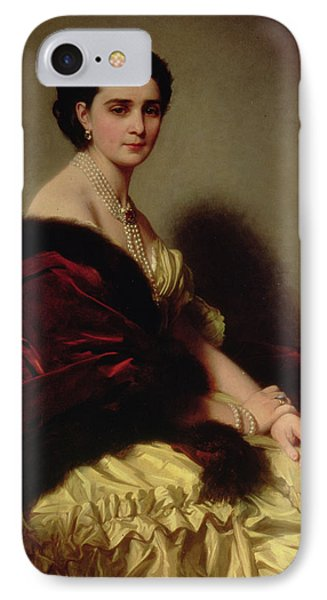 Portrait Of The Countess Sophie Naryshkina IPhone Case by Franz Xaver Winterhalter