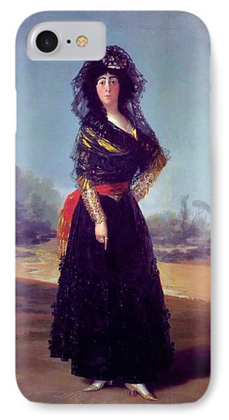 Portrait Of The Duchess Of Alba IPhone Case by Francisco Goya