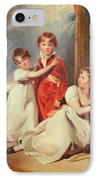 Portrait Of The Fluyder Children, 1805 Oil On Canvas IPhone Case by Sir Thomas Lawrence