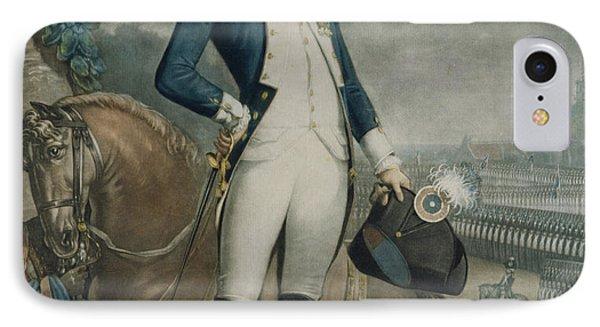 Portrait Of The Marquis De La Fayette IPhone Case by Philibert-Louis Debucourt