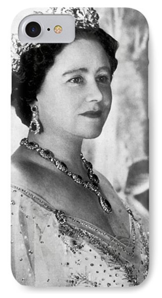 Portrait Of The Queen Mother IPhone Case by Underwood Archives