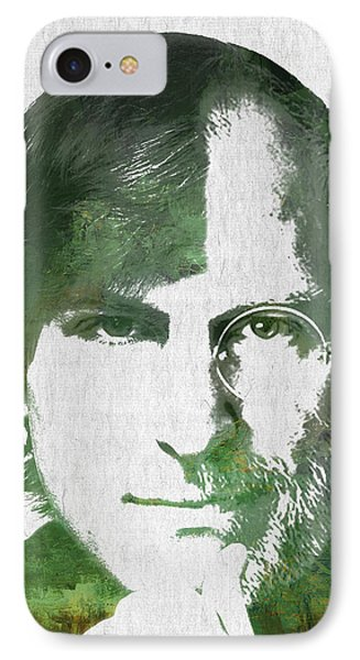 Portrait Of The Young And Old Steve Jobs  IPhone Case by Aged Pixel