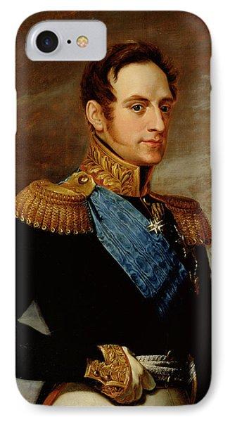 Portrait Of Tsar Nicholas I IPhone Case by Vasili Andreevich Tropinin