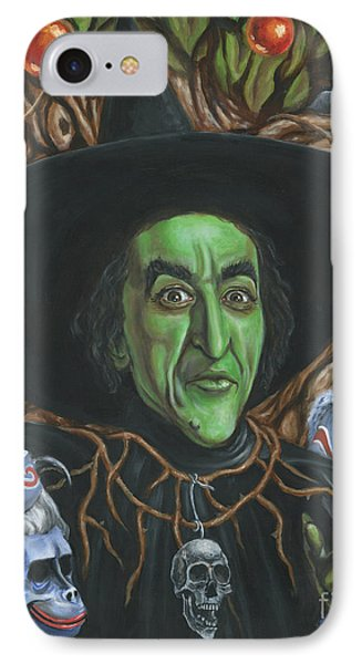 Portrait Of Wickedness IPhone Case by Mark Tavares