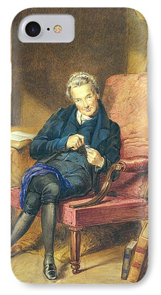 Portrait Of William Wilberforce 1759-1833 1833 Wc On Paper IPhone Case by George Richmond