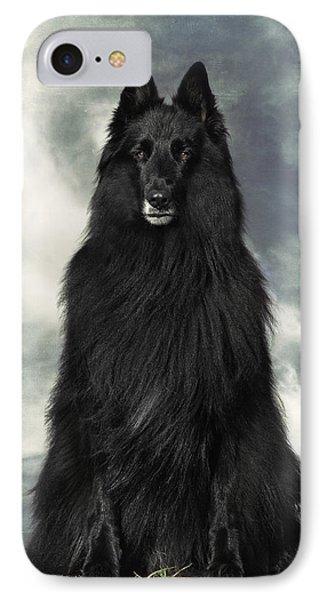 Portrait Of Wolfcub Belgian Shepherd Groenendael IPhone Case by Wolf Shadow  Photography