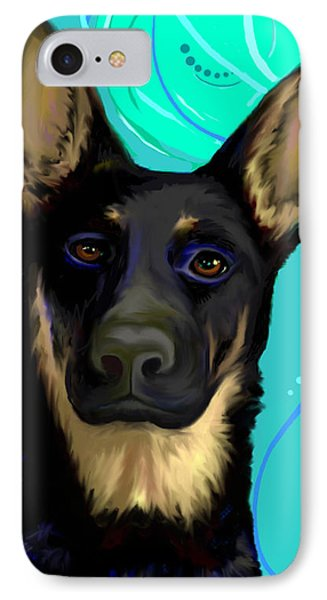 IPhone Case featuring the digital art Portrait Of A German Shepherd Dog by Karon Melillo DeVega