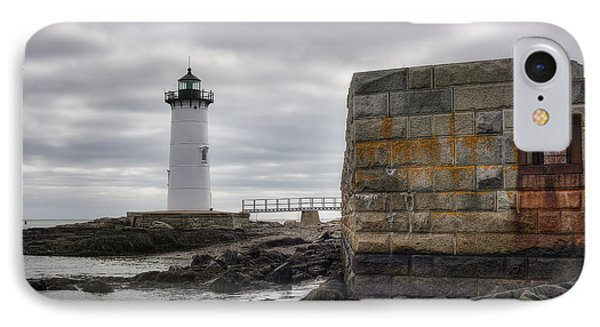 Portsmouth Harbor Light IPhone Case by Eric Gendron