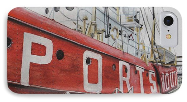 Portsmouth Lightship IPhone Case by Stan Tenney