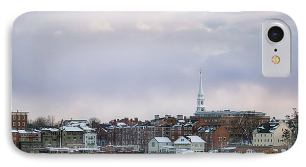 Portsmouth's Winter Skyline IPhone Case by Eric Gendron