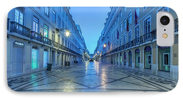 Portugal, Lisbon, Baixa, Rua Augusta IPhone Case