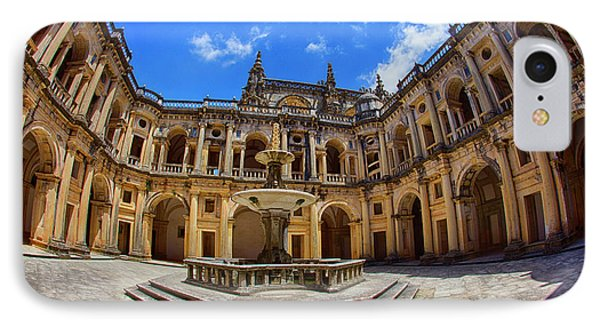 Portugal, Tomar, The Convent IPhone Case by Terry Eggers