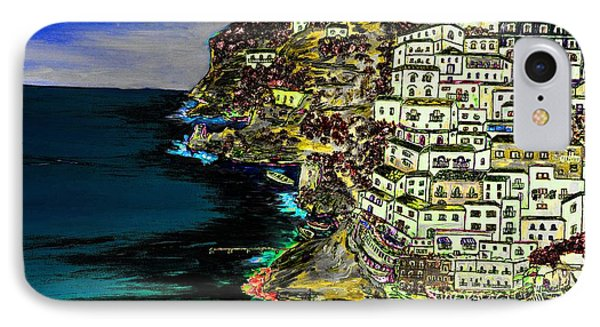 Positano At Night IPhone Case by Loredana Messina