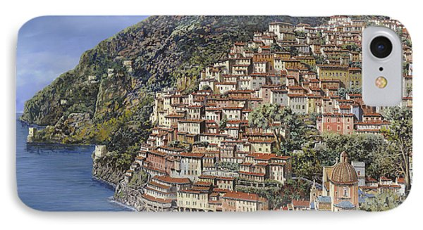 Positano E La Torre Clavel IPhone Case by Guido Borelli