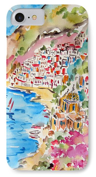Positano Water Color IPhone Case