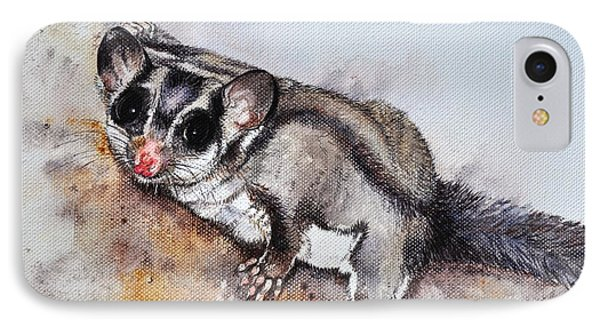 Possum Cute Sugar Glider Phone Case by Sandra Phryce-Jones
