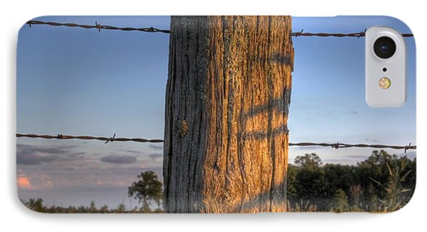 Post And Barb Wire IPhone Case by Larry Capra