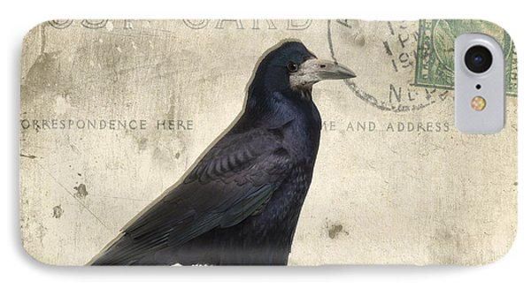 Post Card Nevermore IPhone Case by Edward Fielding
