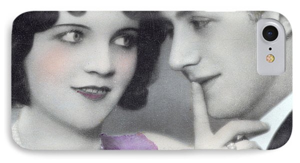 Postcard Depicting Two Lovers IPhone Case