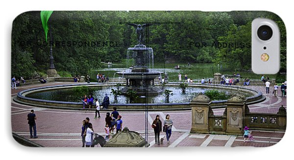Postcard From Central Park Phone Case by Madeline Ellis