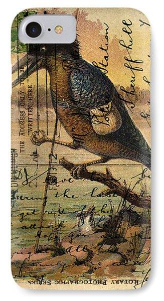 Postcard Kingfisher Phone Case by Sarah Vernon