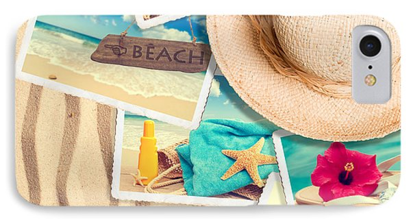 Postcards In The Sand Phone Case by Amanda Elwell
