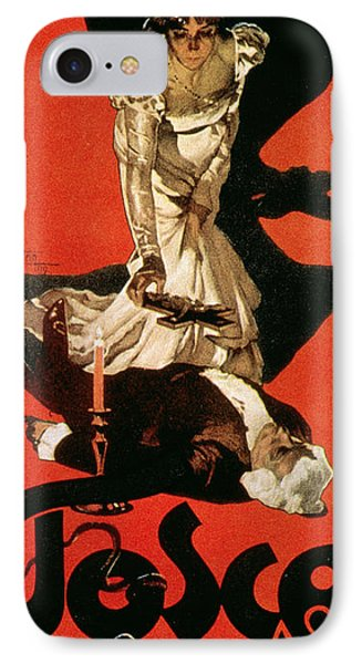 Poster Advertising A Performance Of Tosca IPhone Case