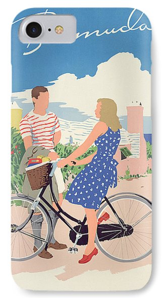 Poster Advertising Bermuda Phone Case by Adolph Treidler