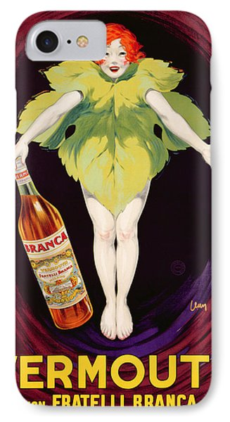 Poster Advertising Fratelli Branca Vermouth Phone Case by Jean DYlen