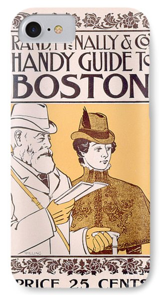 Poster Advertising Rand Mcnally And Co's Hand Guide To Boston IPhone Case by American School