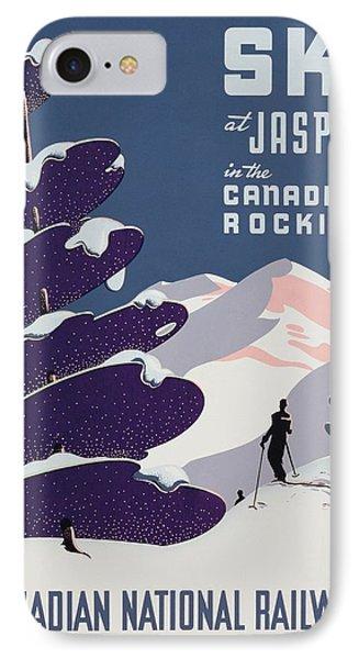 Poster Advertising The Canadian Ski Resort Jasper IPhone Case