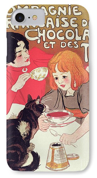 Poster Advertising The Compagnie Francaise Des Chocolats Et Des Thes IPhone Case by Theophile Alexandre Steinlen