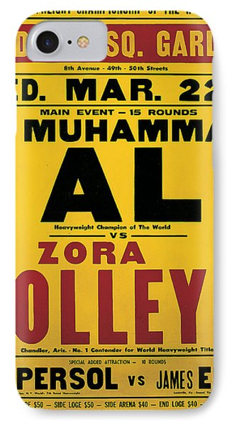 Poster Advertising The Fight Between Muhammad Ali And Zora Folley In Madison Square Garden IPhone Case by American School