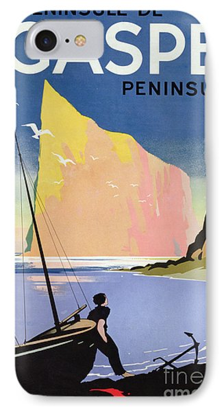 Poster Advertising The Gaspe Peninsula Quebec Canada Phone Case by Canadian School