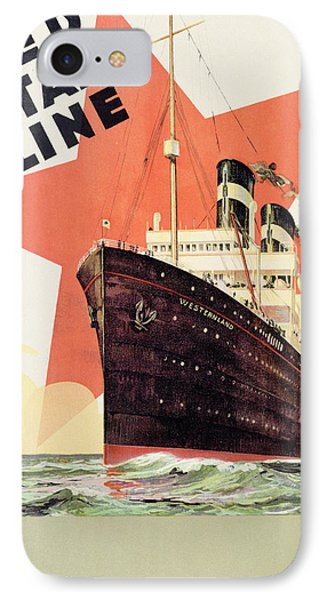 Poster Advertising The Red Star Line IPhone Case by Belgian School