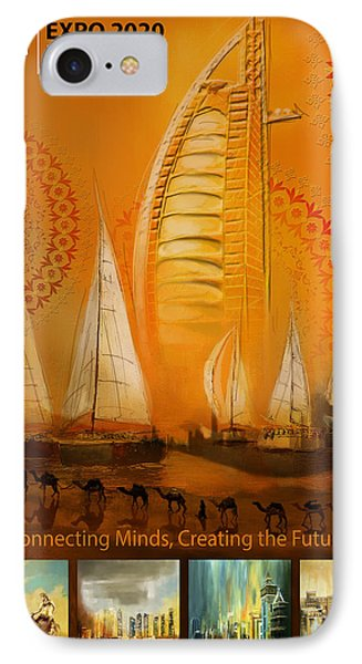 Poster Dubai Expo - 3 IPhone Case by Corporate Art Task Force